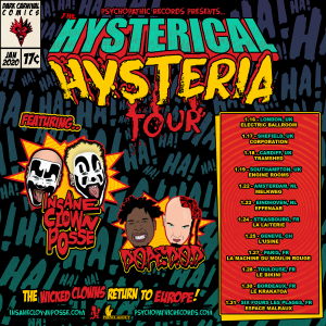 Wicked Tour 2020.Insane Clown Posse Dope D O D Hysterical Hysteria Tour 2020